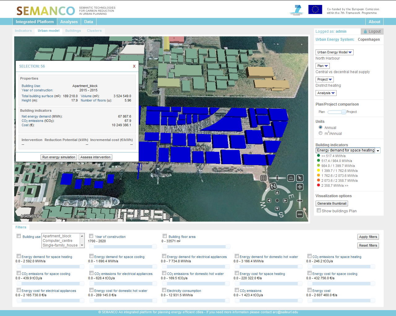 4.2 Run energy simulation for the buildings in the project